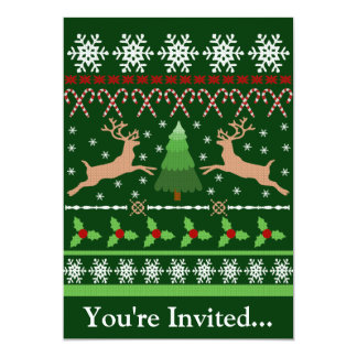 Funny Ugly Christmas Sweater Card