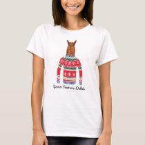 Funny Ugly Christmas Sweater Cute Llama Lover