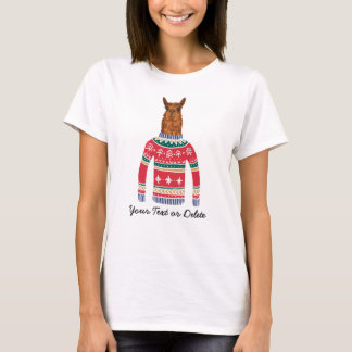 Funny Ugly Christmas Sweater Cute Llama Lover