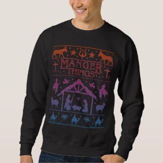 Funny Ugly Christmas Sweater Humor | Manger Things