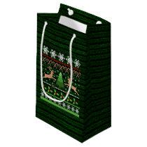 Funny Ugly Christmas Sweater Inspired Small Gift Bag