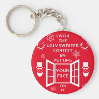 Funny Ugly Christmas Sweater Keychain