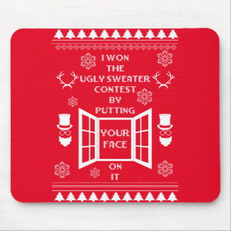 Funny Ugly Christmas Sweater Mouse Pad