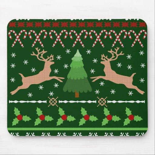 Funny Ugly Christmas Sweater Mousepad