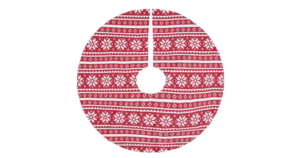 Funny ugly Christmas sweater pattern tree skirt | Zazzle.com