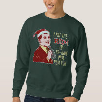 Funny Ugly Christmas Sweater Retro Rum Man Humor