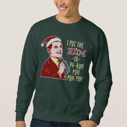Ugly Christmas Sweaters.Funny Ugly Christmas Sweater Retro Rum Man Humor