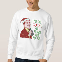 Funny Ugly Christmas Sweater Rum Man Retro Humor