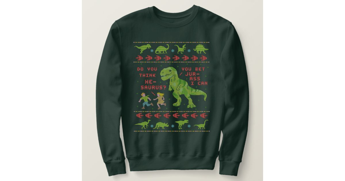 T Rex Ugly Christmas Sweater.Funny Ugly Christmas Sweater T Rex Dinosaur Pun Zazzle Com