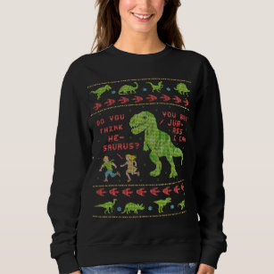 T Rex Ugly Christmas Sweater.Funny Ugly Christmas Sweater T Rex Dinosaur Pun
