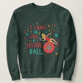 Funny Ugly Christmas Sweater Woman Festive Ball