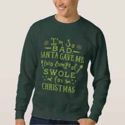 Funny Ugly Christmas Workout Weightlifter Exercise Sweatshirt