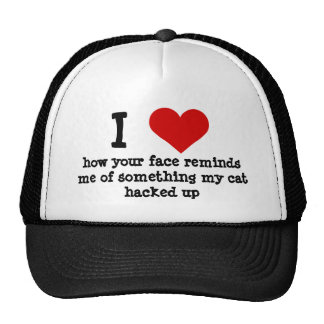 Funny ugly face insult trucker hat