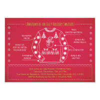 Funny Ugly Sweater Christmas Invitation