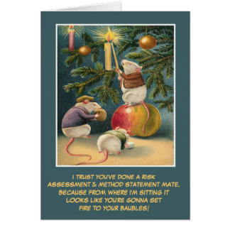 Funny UK health and safety Christmas Greeting Card