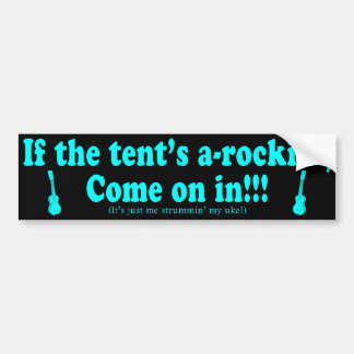 Funny Ukulele Bumper Sticker for Campers