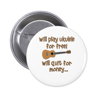 Funny Ukulele Pinback Buttons