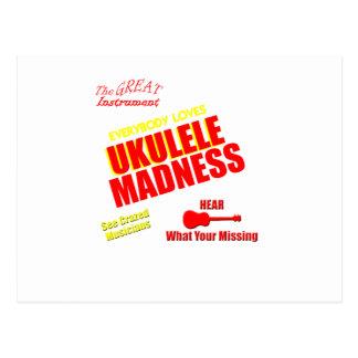 Funny Ukulele Madness Postcard