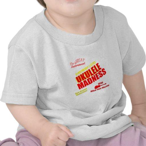 Funny Ukulele Madness Tshirts