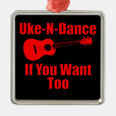 Funny Ukulele Metal Ornament at Zazzle