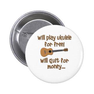 Funny Ukulele Pinback Button