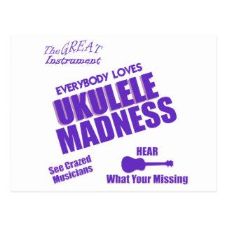 Funny Ukulele Postcard