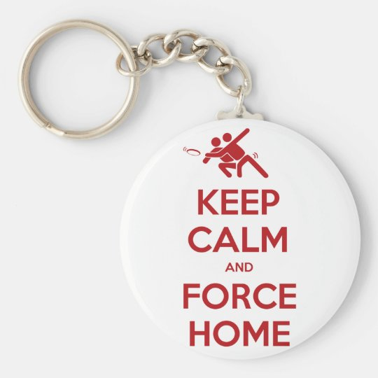 funny ultimate frisbee keep calm and force home keychain zazzle com