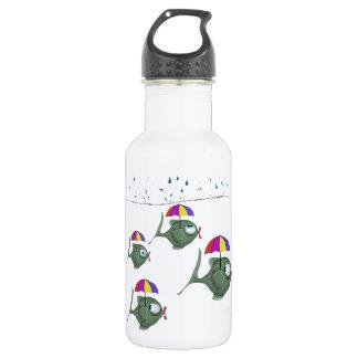 Funny Umbrella Fish Water Bottle