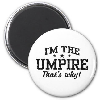 Funny Umpire 2 Inch Round Magnet