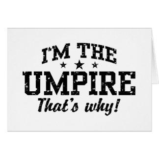 Funny Umpire Card