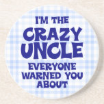 Funny Uncle Gift Beverage Coaster