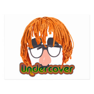 Funny Undercover Disguise Postcard