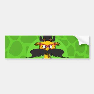 Funny Undercover Giraffe in Mustache Disguise Bumper Stickers