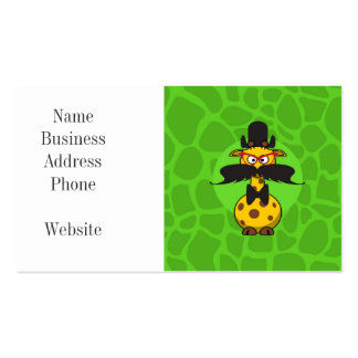 Funny Undercover Giraffe in Mustache Disguise Business Card