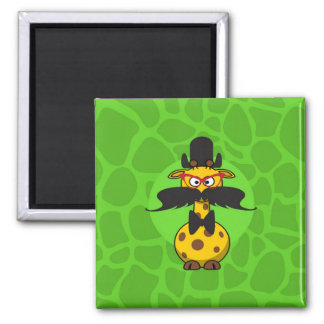 Funny Undercover Giraffe in Mustache Disguise Magnets