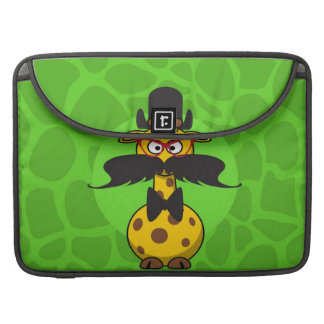 Funny Undercover Giraffe in Mustache Disguise Sleeve For MacBook Pro