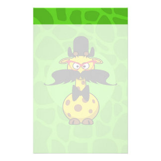 Funny Undercover Giraffe in Mustache Disguise Stationery