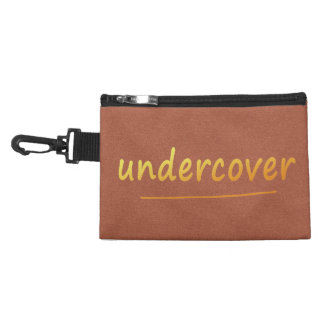 Funny Undercover Shiny Text Golden on any Color Accessory Bag