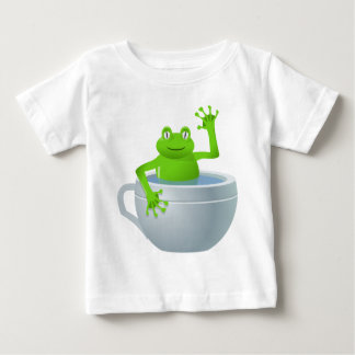Funny Unexpected Frog in My Tea Cup Baby T-Shirt