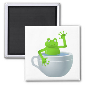 Funny Unexpected Frog in My Tea Cup Magnet
