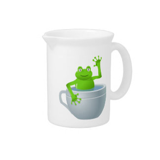 Funny Unexpected Frog in My Tea Cup Pitcher