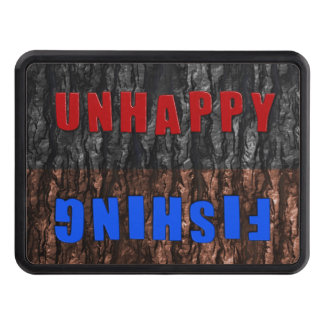 Funny Unhappy or Fishing Flip Hitch Cover Tow Hitch Cover