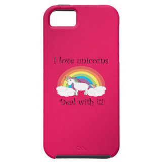 Funny unicorn gifts iPhone 5 cases