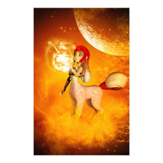 Funny unicorn in the universe stationery