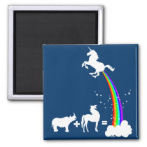 Funny unicorn origin magnet