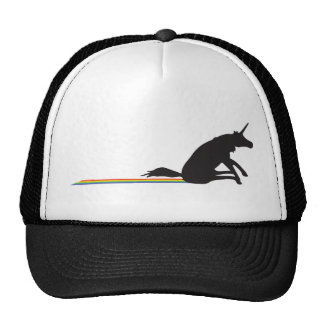Funny Unicorn Pooping Rainbows Trucker Hat
