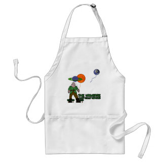 Funny universe adult apron