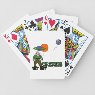 Funny universe bicycle playing cards