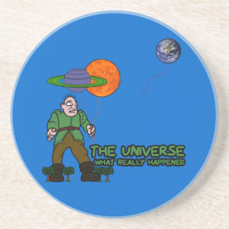 Funny universe drink coasters