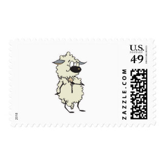 funny unzipping wool sheep stamp